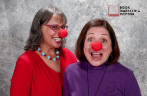 Judy Baker and Judy Reyes, partners in book marketing mentor