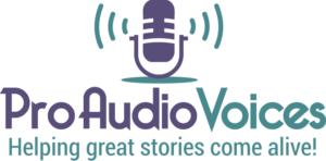 Pro Audio Voices audiobook producer logo